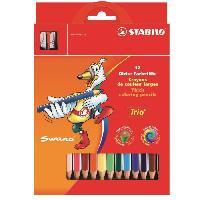 Crayon De Couleur - Craie Grasse Etui carton de 12 Crayons de couleur Trio