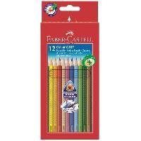 Crayon De Couleur - Craie Grasse Etui de 12 Crayons de Couleur GRIP