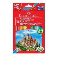 Crayon De Couleur - Craie Grasse Etui de 36 Crayons de couleur Chateau - Coloris assortis