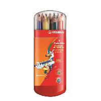 Crayon De Couleur - Craie Grasse Etui malin de 15 Crayons de couleur Trio