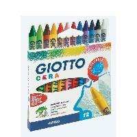 Crayon De Couleur - Craie Grasse GIOTTO Etui accrochable de 12 Crayons cire Cera