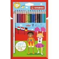 Crayon De Couleur - Craie Grasse STABILO 18 crayons de couleur STABILO Color