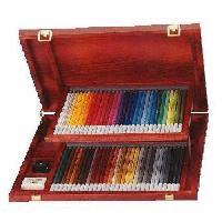 Crayon De Couleur - Craie Grasse STABILO CarbOthello - Coffret bois - lot  60 crayons de couleur fusain pastel