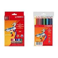 Crayon De Couleur - Craie Grasse STABILO Etui carton de 18 crayons de couleur Trio + 1 taille-crayon