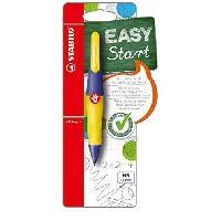 Crayon Graphite - Mine  EASYergo - 1 porte-mine 1.4 gaucher + 3 mines HB - jauneviolet