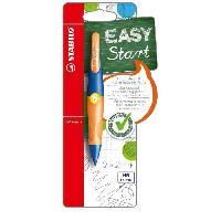 Crayon Graphite - Mine  EASYergo - 1 porte-mine 1.4 gaucher + 3 mines HB - orangebleu