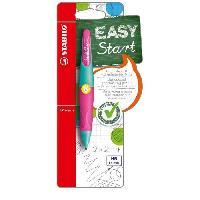 Crayon Graphite - Mine  EASYergo - 1 porte-mine 1.4 gaucher + 3 mines HB - rosevert