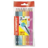 Crayon Graphite - Mine  STABILO Ecopack x 10 crayons Graphite  Pencil 160 HB