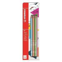 Crayon Graphite - Mine  Trio HB - 6 crayons graphite
