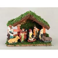 Creche De Noel Creche de Noel avec 9 santons en porcelaine non colles - 23x16 cm - Generique