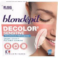 Creme Decolorante Des Poils BLONDEPIL Creme décolorante Decolor'Sensitive - Pour visage - 2 x 25 ml