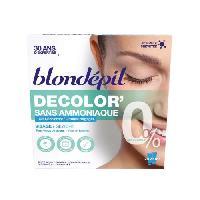 Creme Decolorante Des Poils BLONDEPIL Gel décolorant 100% Filles Decolor' - Sans ammoniaque - 2 x 25 ml