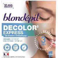 Creme Decolorante Des Poils BLONDEPIL Gel décolorant Decolor'express - Pour visage - 2 x 25 ml