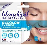 Creme Decolorante Des Poils BLONDEPIL Gel décolorant Les Monodoses Decolor'Express - Pour visage - 2 x 4 ml