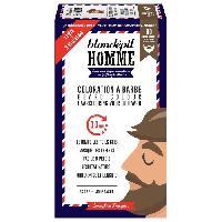 Creme Decolorante Des Poils Coloration a barbe - Blond naturel - Pour homme - Barbe et moustache - Kit 3 utilisations