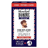 Creme Depilatoire Creme depilatoire + Disque gommant - Visage - Pour homme - Peaux sensibles - 20 ml