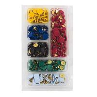 Crochet - Peigne - Anneau D'accroche - Piton 290 Punaises - Acier et plastique - Couleurs panachees