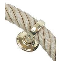 Crochet - Peigne - Anneau D'accroche - Piton Anneau - Laiton poli verni - Ø 35 mm - Generique