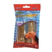 Croquette - Nourriture Seche 2 os en peau de buffle avec fluor - 11 cm