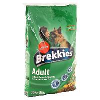 Croquette - Nourriture Seche BREKKIES Croquettes au boeuf et aux légumes pour chien adulte 10kg (1)