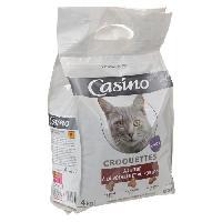 Croquette - Nourriture Seche CASINO Croquettes au boeuf. a la volaille et au poisson - Pour chat - 4kg (x1)
