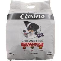 Croquette - Nourriture Seche CASINO Croquettes au boeuf et aux légumes - Pour chien - 10kg (x1)