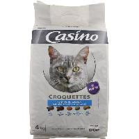 Croquette - Nourriture Seche Croquettes pour chat thon et saumon 4 kg - Casino