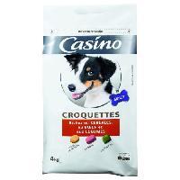 Croquette - Nourriture Seche Croquettes pour chien au boeuf 4 kg - Casino