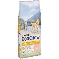 Croquette - Nourriture Seche DOG CHOW Croquettes complet et classic avec du saumon - Pour chien - 14 kg