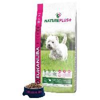 Croquette - Nourriture Seche EUKANUBA Croquette Nature Plus+ riche en Agneau fraichement congelé - Pour chien adulte petit race - 14 kg