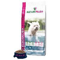 Croquette - Nourriture Seche EUKANUBA Croquette Nature Plus+ riche en Saumon fraichement congelé - Pour chien adulte petit race - 14 kg