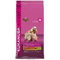 Croquette - Nourriture Seche EUKANUBA Croquettes au poulet - Contrôle de poids - Race moyenne - 3kg - Pour chien adulte