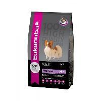 Croquette - Nourriture Seche EUKANUBA Croquettes pour chien de petite race - 100% complet et équilibré - Sans arôme artificiel ajouté - Au poulet - 3kg