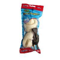 Croquette - Nourriture Seche Os noue blanc au fluor - 16 cm