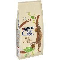 Croquette - Nourriture Seche PURINA CAT CHOW Croquettes - Avec NaturiumTM - Riche en canard - Pour chat adulte - 10 kg