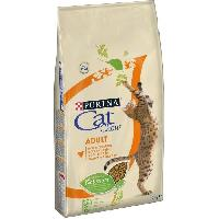 Croquette - Nourriture Seche PURINA CAT CHOW Croquettes - Avec NaturiumTM - Riche en poulet - Pour chat adulte - 10 kg