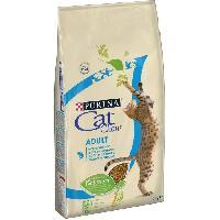 Croquette - Nourriture Seche PURINA CAT CHOW Croquettes - Avec NaturiumTM - Riche en saumon - Pour chat adulte - 10 kg