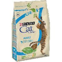 Croquette - Nourriture Seche PURINA CAT CHOW Croquettes - Avec NaturiumTM - Riche en saumon - Pour chat adulte - 3 kg