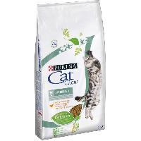 Croquette - Nourriture Seche PURINA CAT CHOW Sterilised Croquettes - Avec NaturiumTM - Riche en poulet - Pour chat adulte - 10 kg