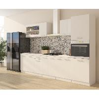 Cuisine Complete ULTRA Cuisine complete avec colonne four et plan de travail inclus L 300 cm - Blanc mat