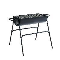 Cuisine Exterieure Barbecue a charbon demi-tonneau - 12 convives - Acier - Noir