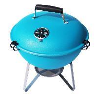 Cuisine Exterieure Barbecue charbon Nomade en boule - Turquoise
