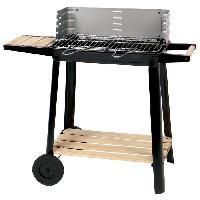 Cuisine Exterieure CALABRIA Barbecue a charbon - Acier chrome - 84.5x42x78.5 cm