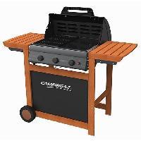 Cuisine Exterieure CAMPINGAZ Barbecue a gaz Adelaide 3 Woody L - Acier émaillé - 45x57 cm