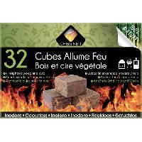 Cuisine Exterieure CHEMINETT Allume feu - Bois 100% d'origine végétale FSC - 32 cubes