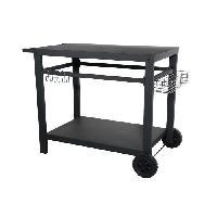 Cuisine Exterieure Chariot pour plancha en acier - 85 x 50 x 75 cm
