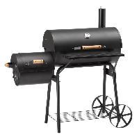 Cuisine Exterieure LANDMANN Barbecue fumoir Tennessee 200 - 130x125.5x68cm - Noir