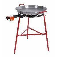 Cuisine Exterieure SOMAGIC Barbecue a gaz 1 brûleur pour paëlla Alicante - Acier - 77x71x86 cm - Rouge et gris