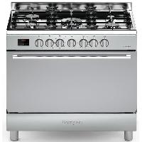 Cuisiniere - Piano De Cuisine BOMPANI BOMFE96IX - Cuisiniere table gaz-5 foyers-Four electrique-Catalyse-119L-L 90 x H 85 cm-Inox