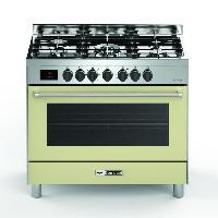 Cuisiniere - Piano De Cuisine BOMPANI BTECH90CR Piano de cuisson gaz - 5 foyers - Four electrique - Catalyse - Creme